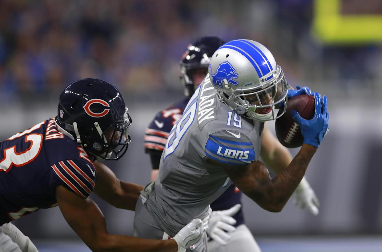 Detroit Lions wide receiver Kenny Golladay should reward fantasy managers in Week 1. (Jeff Haynes/AP Images for Panini)