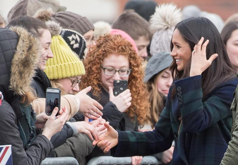 Meghan's a complete natural in front of crowds, wowing the public at a series of events since the couple announced their engagement in November. Photo: Getty