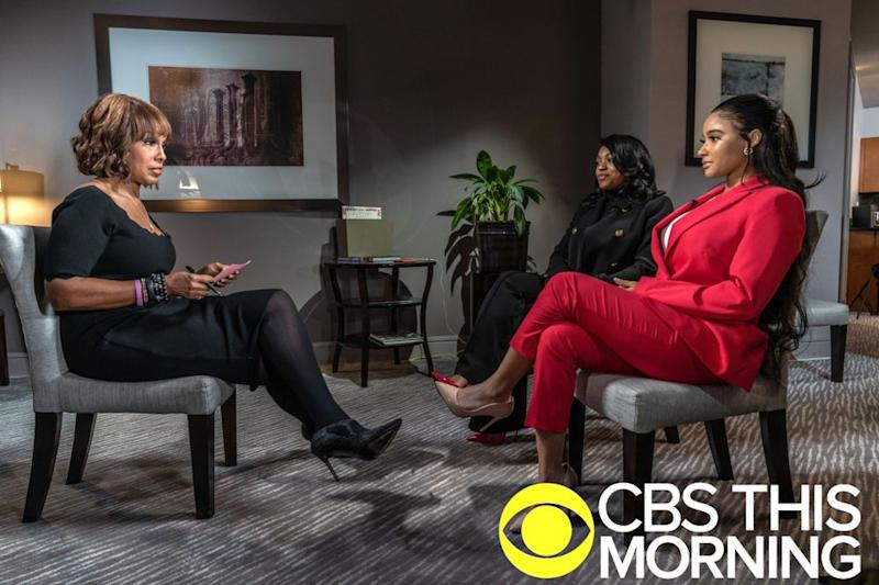 Gayle King with Azriel Clary and Joycelyn Savage | Lazarus Jean-Baptiste/CBS