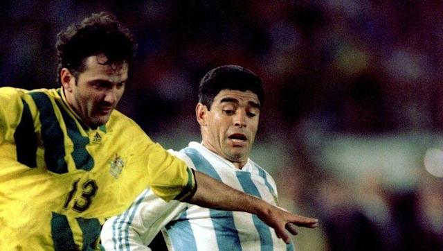 <p>Argentina scraped through to the finals in Russia 2018 with a 3-1 win over Ecuador to rescue a really poor qualification campaign, but for the 1994 finals to be held in the US, they had to do it the hard way.</p> <br><p>England fans in particular were watching the game with close intent as arch enemy Diego Maradona returned from a 15 month-long ban for drug use, in the hope that their Australian cousins could avenge them for the pain of 1986.</p> <br><p>It wasn't to be though - Argentina won the second leg 1-0 after a 1-1 draw in Sydney thanks to Gabriel Batistuta's cross deflecting in cruelly off Alex Tobin.</p>