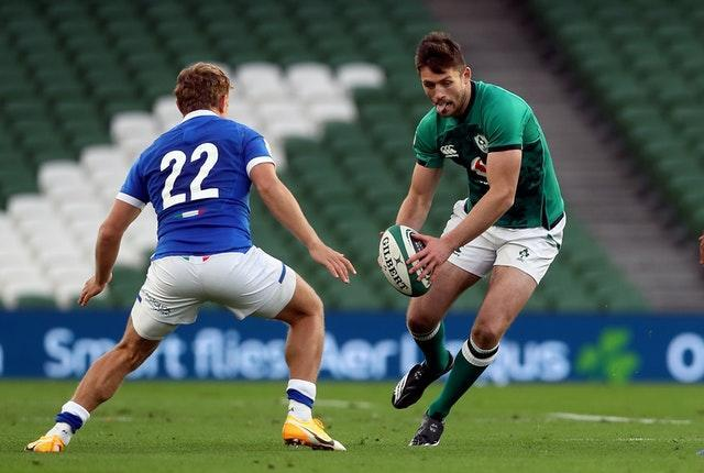 Ross Byrne, right, is another option at fly-half
