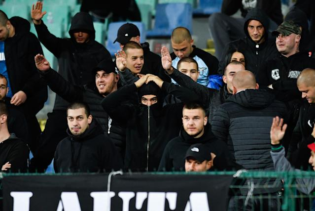 Bulgarian fans' ugly behavior has led to charged against the football federation by UEFA. (Getty)