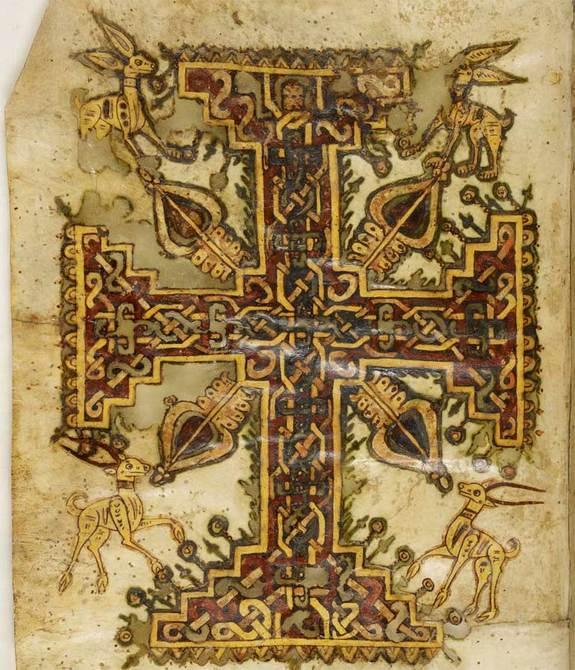 A researcher has deciphered a 1,200-year-old Coptic text that tells part of the Passion (the Easter story) with apocryphal plot twists, some of which have never been seen before. Here, a cross decoration from the text, of which there are two co