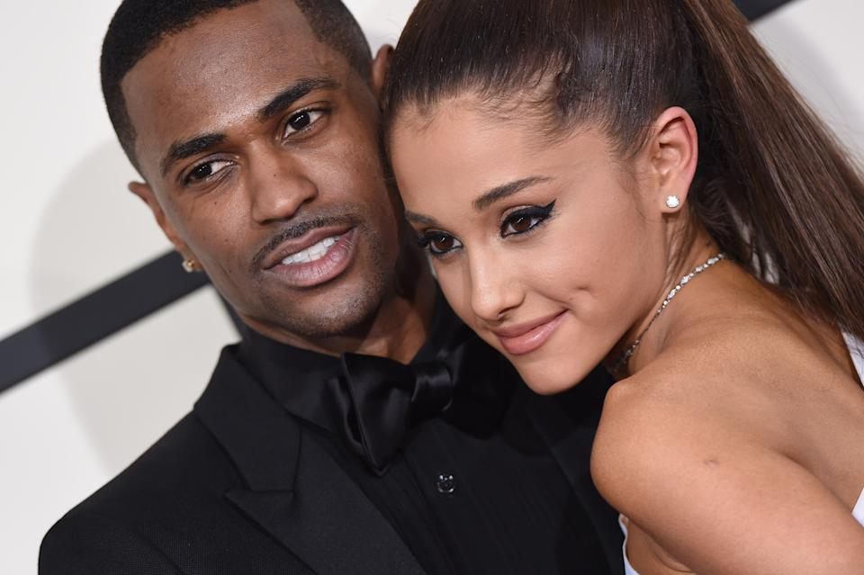LOS ANGELES, CA - FEBRUARY 08:  Recording artists Big Sean (L) and Ariana Grande arrive at the 57th Annual GRAMMY Awards at Staples Center on February 8, 2015 in Los Angeles, California.  (Photo by Axelle/Bauer-Griffin/FilmMagic)