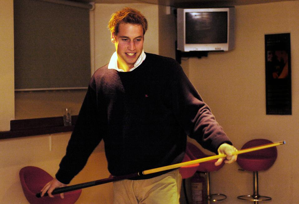<p>William was afforded a lot of privacy during his degree, but the cameras captured some of his student life. (PA Photo: David Cheskin)</p>