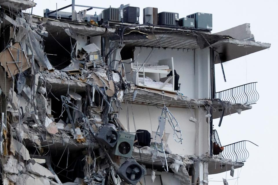 FILE PHOTO: A bunk bed is seen inside a Miami building that collapsed on June 24, 2021. (Source: REUTERS/Marco Bello)