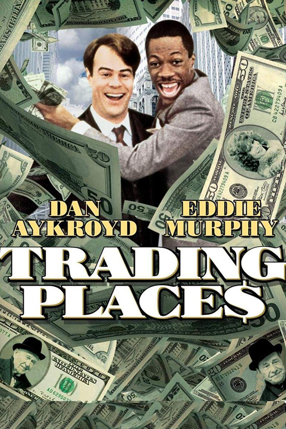 """<p>This modernized version of Mark Twain's <em>The Prince and The Pauper</em> is set during the holidays and stars Dan Aykroyd and Eddie Murphy.</p><p><a class=""""link rapid-noclick-resp"""" href=""""https://www.amazon.com/Trading-Places-Denholm-Elliott/dp/B00119XQHI/?tag=syn-yahoo-20&ascsubtag=%5Bartid%7C10055.g.1315%5Bsrc%7Cyahoo-us"""" rel=""""nofollow noopener"""" target=""""_blank"""" data-ylk=""""slk:WATCH NOW"""">WATCH NOW</a></p>"""