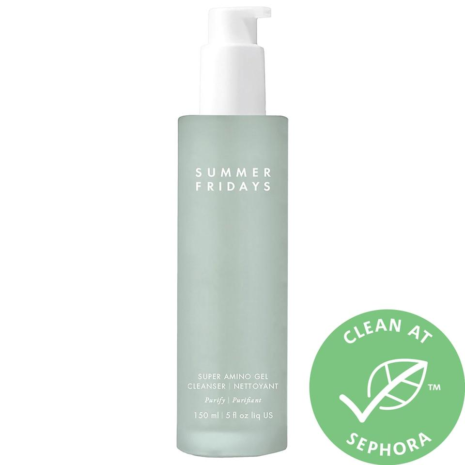 <p>Formulated with 11 amino acids and mineral-rich seawater, the <span>Summer Fridays Super Amino Gel Cleanser</span> ($38) helps balance your skin's pH while cleansing.</p>