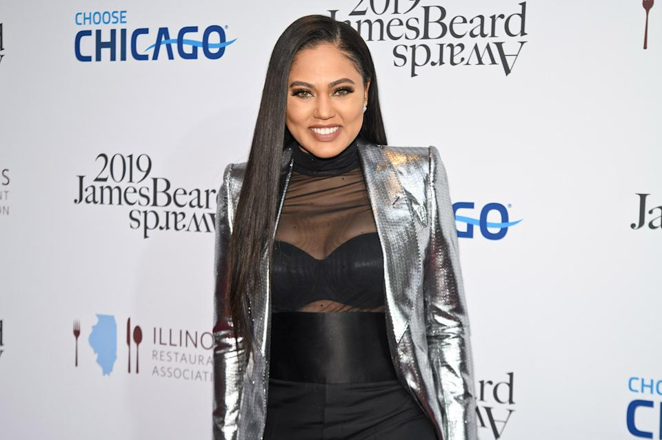 CHICAGO, ILLINOIS - MAY 06: Ayesha Curry attends the 2019 James Beard Awards at Lyric Opera Of Chicago on May 06, 2019 in Chicago, Illinois. (Photo by Timothy Hiatt/Getty Images)