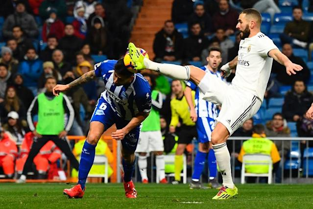 Benzema helps Real Madrid to win over Alaves (AFP Photo/GABRIEL BOUYS )