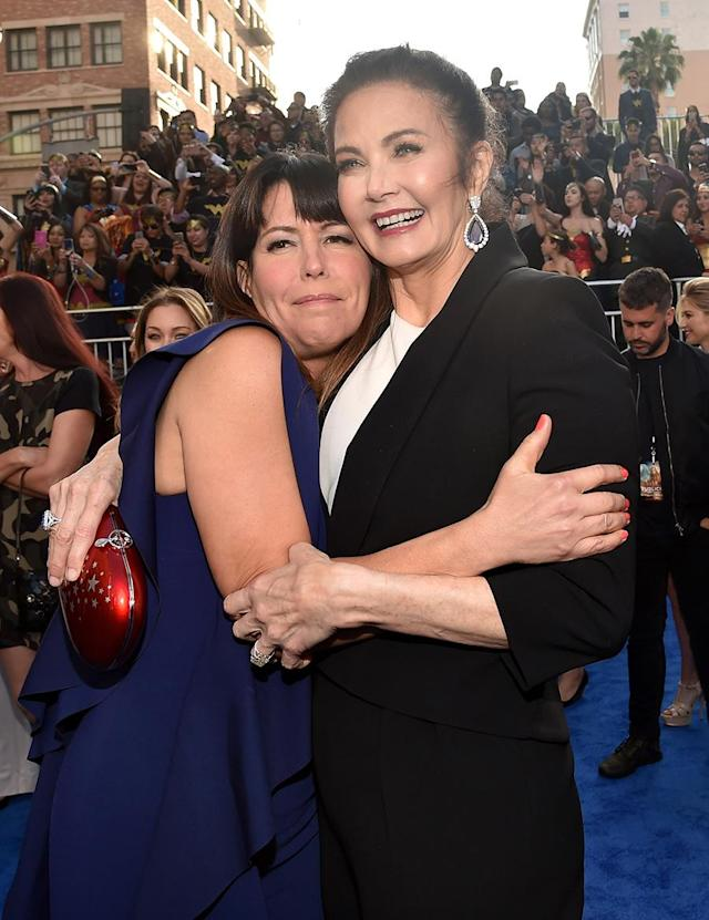 "<p>The ""Wonder Woman"" director was a big fan of the TV series growing up and has since become friends with Carter. <a href=""http://www.gamesradar.com/wonder-woman-star-gal-gadot-and-director-patty-jenkins-on-how-lynda-carters-portrayal-inspired-them/"" rel=""nofollow noopener"" target=""_blank"" data-ylk=""slk:Jenkins recently told SFX magazine"" class=""link rapid-noclick-resp"">Jenkins recently told SFX magazine</a>: ""I think she was such a beautiful embodiment of Wonder Woman. Kind, good, beautiful, sexy, strong, moral, all of those things."" (Photo: Alberto E. Rodriguez/Getty Images) </p>"