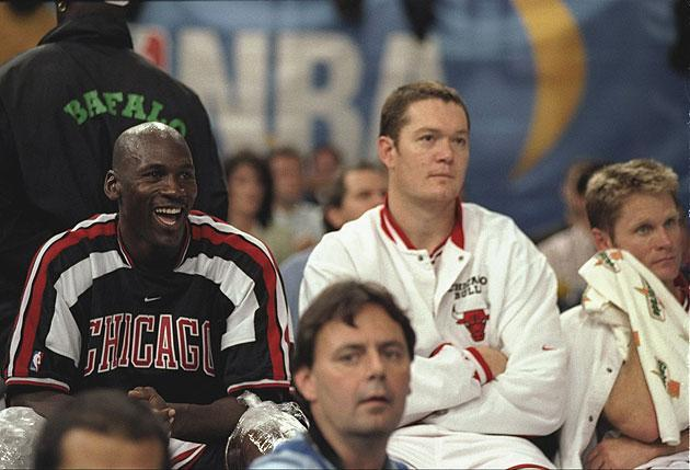 Michael Jordan laughs at all the three-pointers FC Barcelona takes. (Getty)