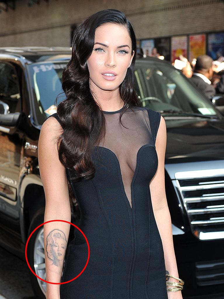 Megan Fox's Marilyn Monroe tribute was tough to miss. (Photo: Mejia/Asadorian/Splash News and Pictures)