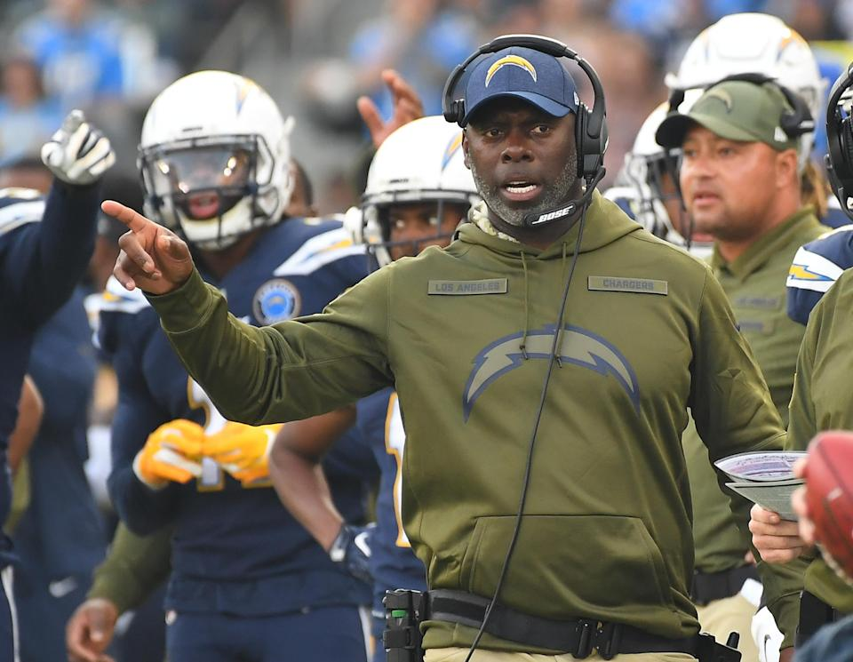 Anthony Lynn has helped lead the Chargers to an 11-3 mark that has Los Angeles in the running for the No. 1 seed in the AFC playoffs. (Getty Images)