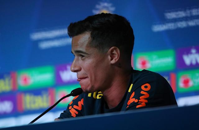 Soccer Football - World Cup - Brazil Press Conference - Brazil Training Camp, Sochi, Russia - June 19, 2018 Brazil's Philippe Coutinho during the press conference REUTERS/Hannah McKay