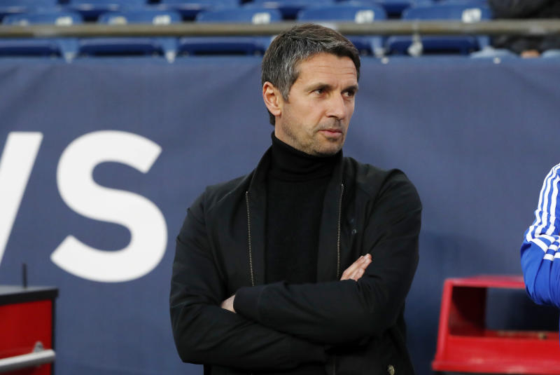 FOXBOROUGH, MA - APRIL 24: Montreal Impact head coach and director of player personnel Remi Garde before a match between the New England Revolution and the Montreal Impact on April 24, 2019, at Gillette Stadium in Foxborough, Massachusetts. (Photo by Fred Kfoury III/Icon Sportswire via Getty Images)