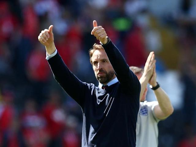 """Gareth Southgate was pleased with his side's response after England beat Switzerland in a penalty shootout to finish third in the Uefa Nations League.The Three Lions were the better side over the 90 minutes and in extra-time but wasteful finishing saw them forced to spot kicks.Goalkeeper Jordan Pickford then proved the hero scoring and then saving from 12 yards to ensure they ended their trip to Portugal on a high note.The result came just three days after the disappointment of defeat to the Netherlands in the semi-final on Thursday and Southgate was pleased with how his team bounced back on Sunday.""""It was important that we responded today with a high-level of performance,"""" he said.""""And the players adapted really well because we changed the shape and they carried it out really well.""""We should've won the game, with the opportunities we created and the number of times we hit the woodwork so it was a good response.""""We prepared well for that eventuality [penalties] and talked to the players about it three weeks ago, as we knew that in a competition like this, it could happen.""""So it's great for all of the staff when that hard work comes to fruition."""""""