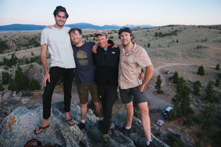 L to R: Isaac, Max, Conrad and Sam outside Bozeman, Montana - Credit: National Geographic/Chris Murphy