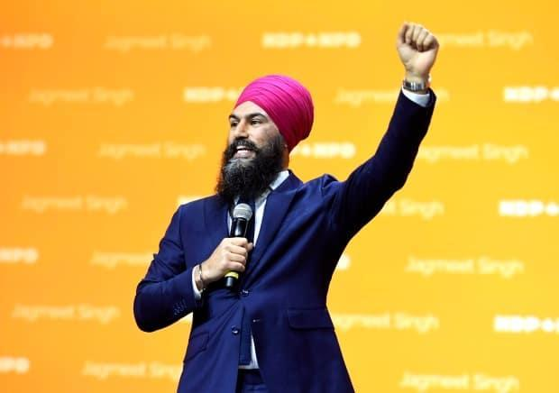 NDP Leader Jagmeet Singh survived his second leadership review Sunday as the NDP's three-day virtual policy convention comes to an end. (Justin Tang/The Canadian Press - image credit)