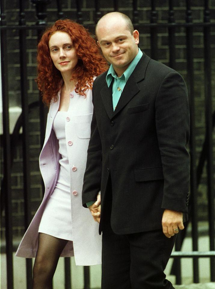 Former Eastender's star Ross Kemp arrives with an unidentified friend for a party at 10 Downing Street July 30. Prime Minister Tony Blair invited people from the show business and the media for an informal party.  BRITAIN