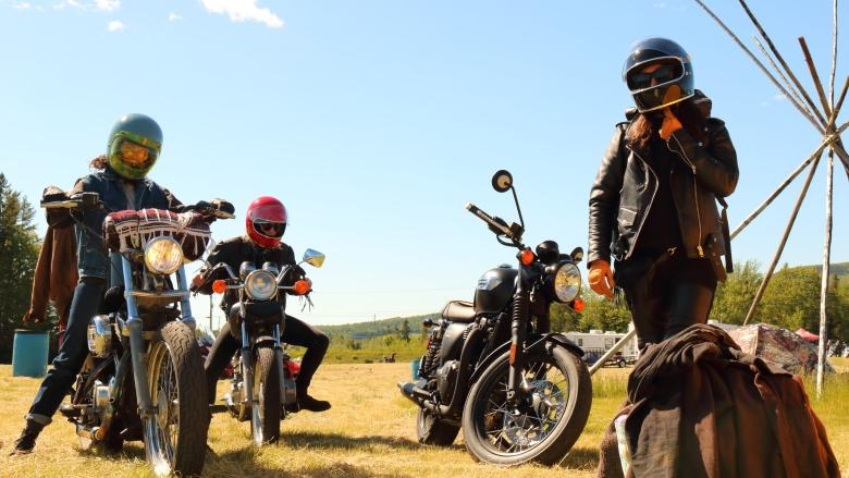 Leather. Laughs. A few broken ribs: All-women biker rally revs up in Penobsquis