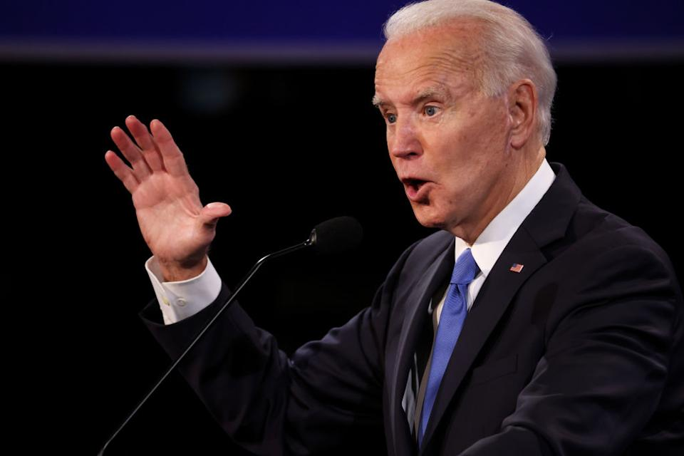 Democratic presidential nominee Joe Biden participates in the final debate for the presidential election, which could end in a tie.