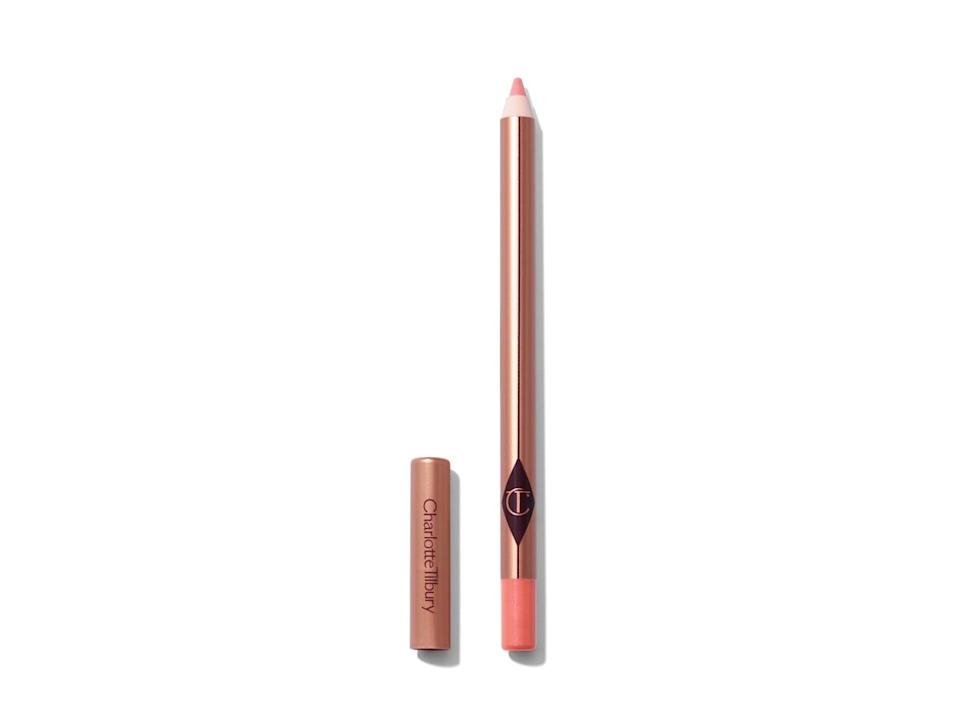 """<p>""""I was never a lip liner fan until I tried the <span>Charlotte Tilbury Lip Cheat Lip Liner</span> ($22) in Pillowtalk. It is incredible; the pinky neutral hue looks good on pretty much everyone, and it gives me the perfect shape to my lips. The formula is creamy and easy to blend, and I'll pair it with the <span>Charlotte Tilbury Superstar Lips</span> ($34) in Pillowtalk for a creamy, shiny finish. It's my go-to lip color, and pretty much the only one I use."""" - India Yaffe, associate editor, Commerce</p>"""