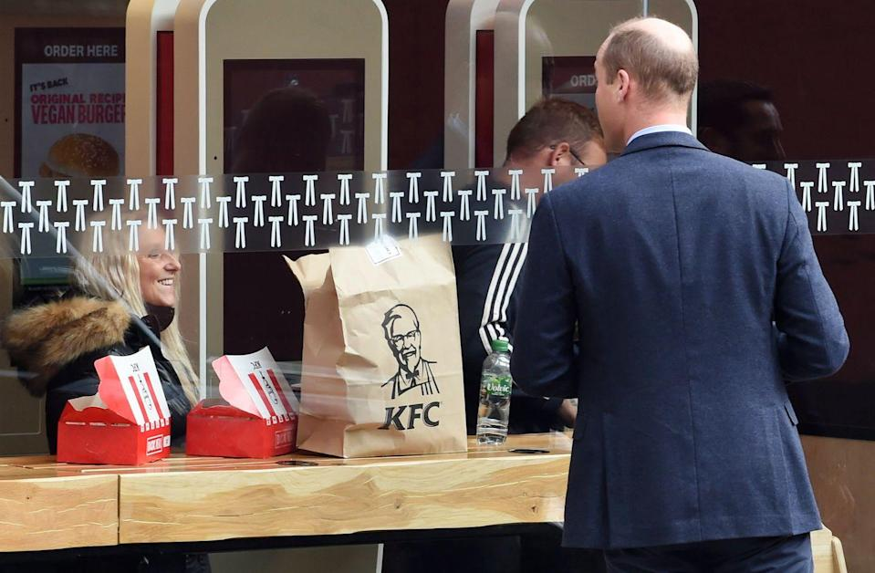 <p>JK we're ending on a photo worthy of only a TRUE future king: Prince William ignoring his royal duties to gaze longingly into a KFC. Just call him the people's prince!</p>