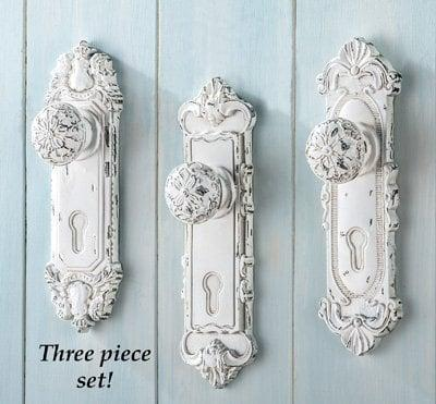 """<p>This <a href=""""https://www.popsugar.com/buy/Set-3-Shabby-Chic-French-Country-Door-Knobs-506770?p_name=Set%20of%203%20Shabby%20Chic%20French%20Country%20Door%20Knobs&retailer=amazon.com&pid=506770&price=25&evar1=casa%3Aus&evar9=46805816&evar98=https%3A%2F%2Fwww.popsugar.com%2Fphoto-gallery%2F46805816%2Fimage%2F46805819%2FSome-Antique-Style-Doorknobs&list1=shopping%2Camazon%2Cdecor%20inspiration%2Cshopping%20guide&prop13=api&pdata=1"""" class=""""link rapid-noclick-resp"""" rel=""""nofollow noopener"""" target=""""_blank"""" data-ylk=""""slk:Set of 3 Shabby Chic French Country Door Knobs"""">Set of 3 Shabby Chic French Country Door Knobs</a> ($25 for three) will bring a little drama to any space.</p>"""