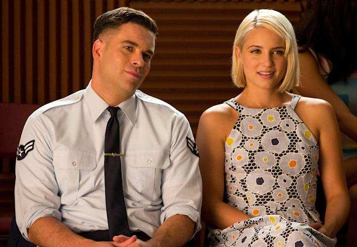 """<p><em>Glee'</em>s resident cheerio, Quinn Fabray, was written out of the script in the show's fourth season. Agron was <a href=""""https://www.usmagazine.com/entertainment/news/dianna-agron-is-done-with-glee-2012149/"""" rel=""""nofollow noopener"""" target=""""_blank"""" data-ylk=""""slk:reportedly unhappy"""" class=""""link rapid-noclick-resp"""">reportedly unhappy</a> and was allowed a graceful exit. The show denied that this was the case, but rumors persisted after Agron was <a href=""""https://www.dailymail.co.uk/tvshowbiz/article-2449066/Dianna-Agron-excluded-Glee-tribute-episode-Cory-Monteith-intense-dislike.html"""" rel=""""nofollow noopener"""" target=""""_blank"""" data-ylk=""""slk:left out of the show's tribute episode"""" class=""""link rapid-noclick-resp"""">left out of the show's tribute episode</a> for Cory Monteith.</p>"""