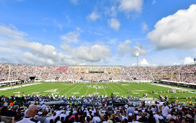 UCF will build a lazy river outside its stadium to create a unique tailgating experience. (Photo by Julio Aguilar/Getty Images)