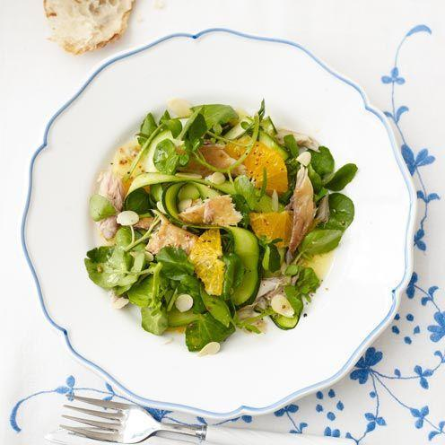 """<p>This salad is full of Omega-3 oils and can help fight low moods.</p><p><strong>Recipe: <a href=""""https://www.goodhousekeeping.com/uk/food/recipes/a535349/smoked-mackerel-salad/"""" rel=""""nofollow noopener"""" target=""""_blank"""" data-ylk=""""slk:Orange and Smoked Mackerel Salad"""" class=""""link rapid-noclick-resp"""">Orange and Smoked Mackerel Salad</a></strong></p>"""