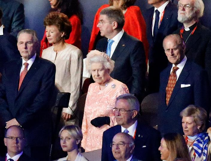 The Queen at the opening ceremony with Prince Philip (AFP via Getty Images)