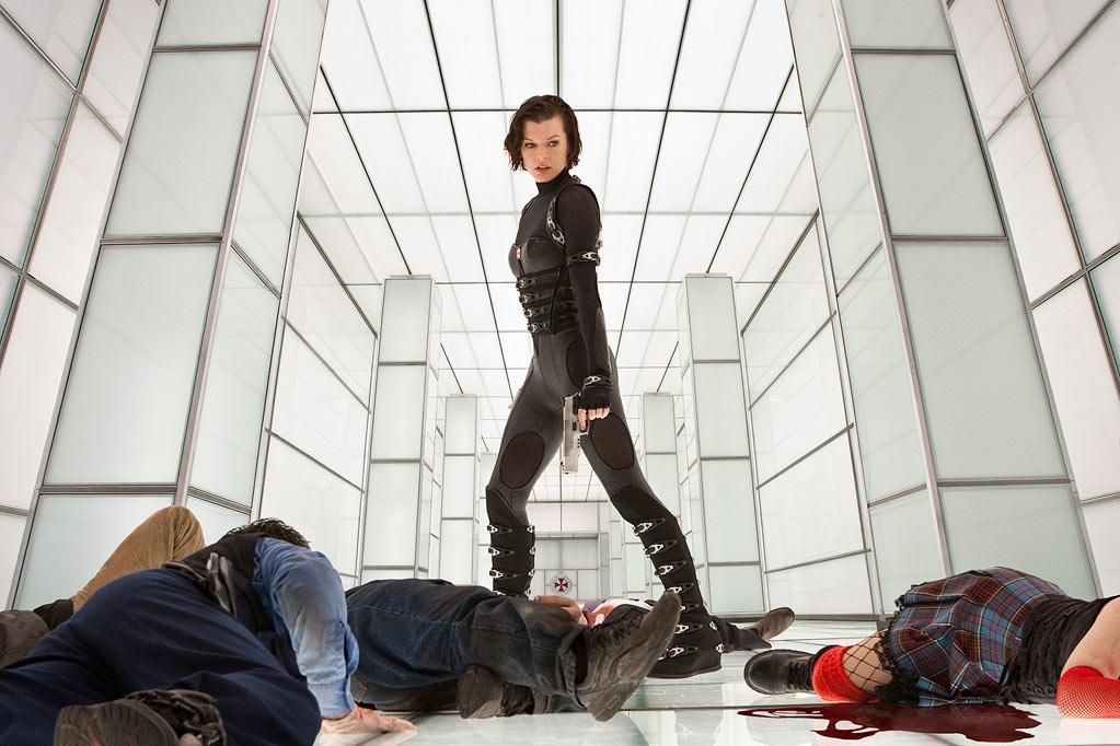 """ Resident Evil: Retribution "" Release date: September 14 Starring: Mila Jovovich and Michelle Rodriguez"