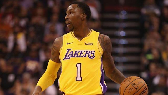 quality design 20ce7 fbd8a Report: Rockets' primary trade target is Lakers' Kentavious ...