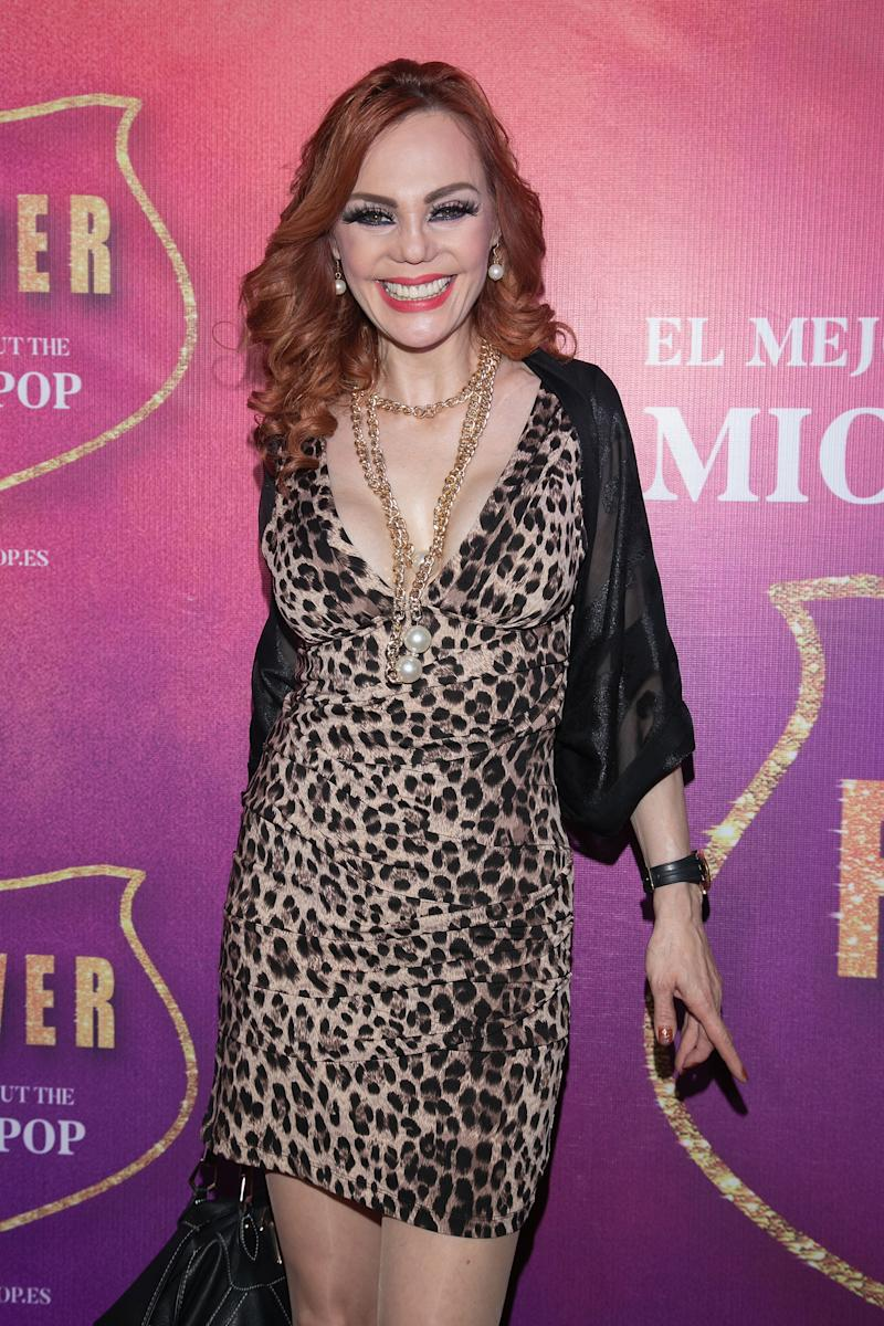"MEXICO CITY, MEXICO - MARCH 13: Carmen Campuzano attends the show ""Forever, The Best Show About The King of Pop"" at Centro Cultural Teatro 1 on March 13, 2019 in Mexico City, Mexico. (Photo by Victor Chavez/Getty Images)"
