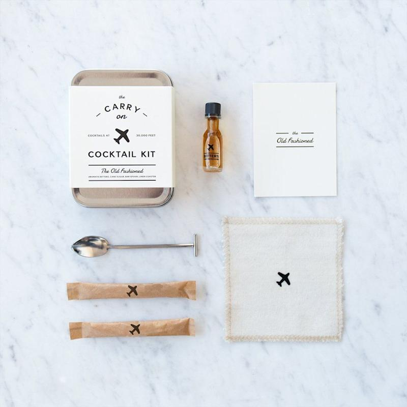 "This kit includes a carry in, recipe card, muddler spoon, aromatic bitters, and cane sugar. <strong><a href=""https://www.amazon.com/Carry-Cocktail-Kit-Old-Fashioned/dp/B00PSTH5VK"" target=""_blank"" rel=""noopener noreferrer"">Get it here</a></strong><a href=""https://jet.com/product/WandP-Designs-Carry-Kit-The-Old-Fashioned/850b432b733c45febd51cdb211d39c40"" target=""_blank"" rel=""noopener noreferrer""></a>."