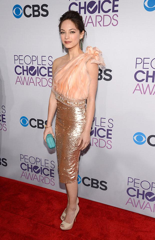 Kristin Kreuk attends the 2013 People's Choice Awards  at Nokia Theatre L.A. Live on January 9, 2013 in Los Angeles, California.