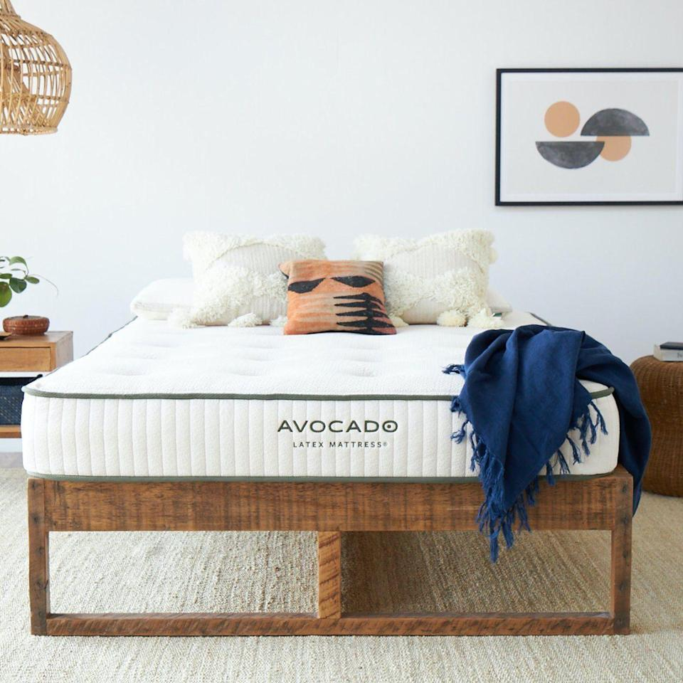 """<p><strong>Avocado </strong></p><p>avocadogreenmattress.com</p><p><strong>$2699.00</strong></p><p><a href=""""https://go.redirectingat.com?id=74968X1596630&url=https%3A%2F%2Fwww.avocadogreenmattress.com%2Fproducts%2Forganic-latex-foam-mattress&sref=https%3A%2F%2Fwww.goodhousekeeping.com%2Fhome-products%2Fg36945381%2Fbest-mattress-for-heavy-people%2F"""" rel=""""nofollow noopener"""" target=""""_blank"""" data-ylk=""""slk:Shop Now"""" class=""""link rapid-noclick-resp"""">Shop Now</a></p><p>Not only is this mattress one of Avocado Green's <strong>most firm mattresses which means it's more supportive for heavier body weights</strong>, but it's also made with all certified organic materials. This mattress does not contain any coils but rather is made with 9 inches of latex with cotton and wool, which Avocado states are good for tall or large combination sleepers. </p><p>Our testers loved this natural and organic mattress, giving it perfect scores for comfort. One praised it saying, """"it contours to your body just the right amount."""" The Lab was impressed with its initiatives to offset carbon emissions as well as the mattress overall, which earned it a spot in our <a href=""""https://www.goodhousekeeping.com/home-products/a36120685/bedding-awards-2021/"""" rel=""""nofollow noopener"""" target=""""_blank"""" data-ylk=""""slk:Bedding Awards."""" class=""""link rapid-noclick-resp"""">Bedding Awards.</a></p><p>• <strong>Height:</strong> 9''<br>• <strong>Firmness levels:</strong> Firm<br>• <strong>Weight Limit: </strong>350 pounds per person, or 700 pounds total<br>• <strong>Sizes: </strong>Twin, Twin XL, Full, Queen, King, California King, Split King<br>• <strong>Trial period:</strong> 1-year trial </p>"""