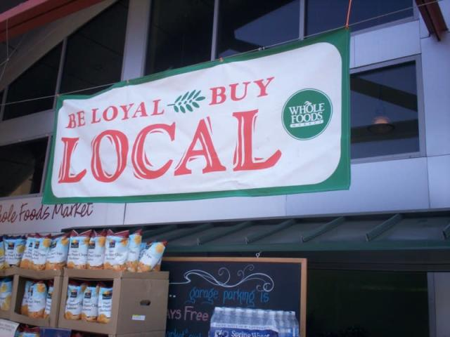 Whole Foods has been known for the personal and local touch. (Paul Swansen/Flickr)