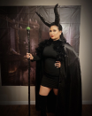 """<p>Rather tap into your dark side? Don all black and add a cape, horns, and a staff. To make your own horns, wrap duct tape around craft tubes, twisting as necessary. </p><p><a class=""""link rapid-noclick-resp"""" href=""""https://www.instagram.com/p/B4JZj2vlmId/"""" rel=""""nofollow noopener"""" target=""""_blank"""" data-ylk=""""slk:SEE MORE"""">SEE MORE</a></p><p><a class=""""link rapid-noclick-resp"""" href=""""https://www.amazon.com/3M-3920-BK-Black-Inches-Yards/dp/B0013AX6FC/?tag=syn-yahoo-20&ascsubtag=%5Bartid%7C10072.g.33547559%5Bsrc%7Cyahoo-us"""" rel=""""nofollow noopener"""" target=""""_blank"""" data-ylk=""""slk:SHOP DUCT TAPE"""">SHOP DUCT TAPE</a></p>"""