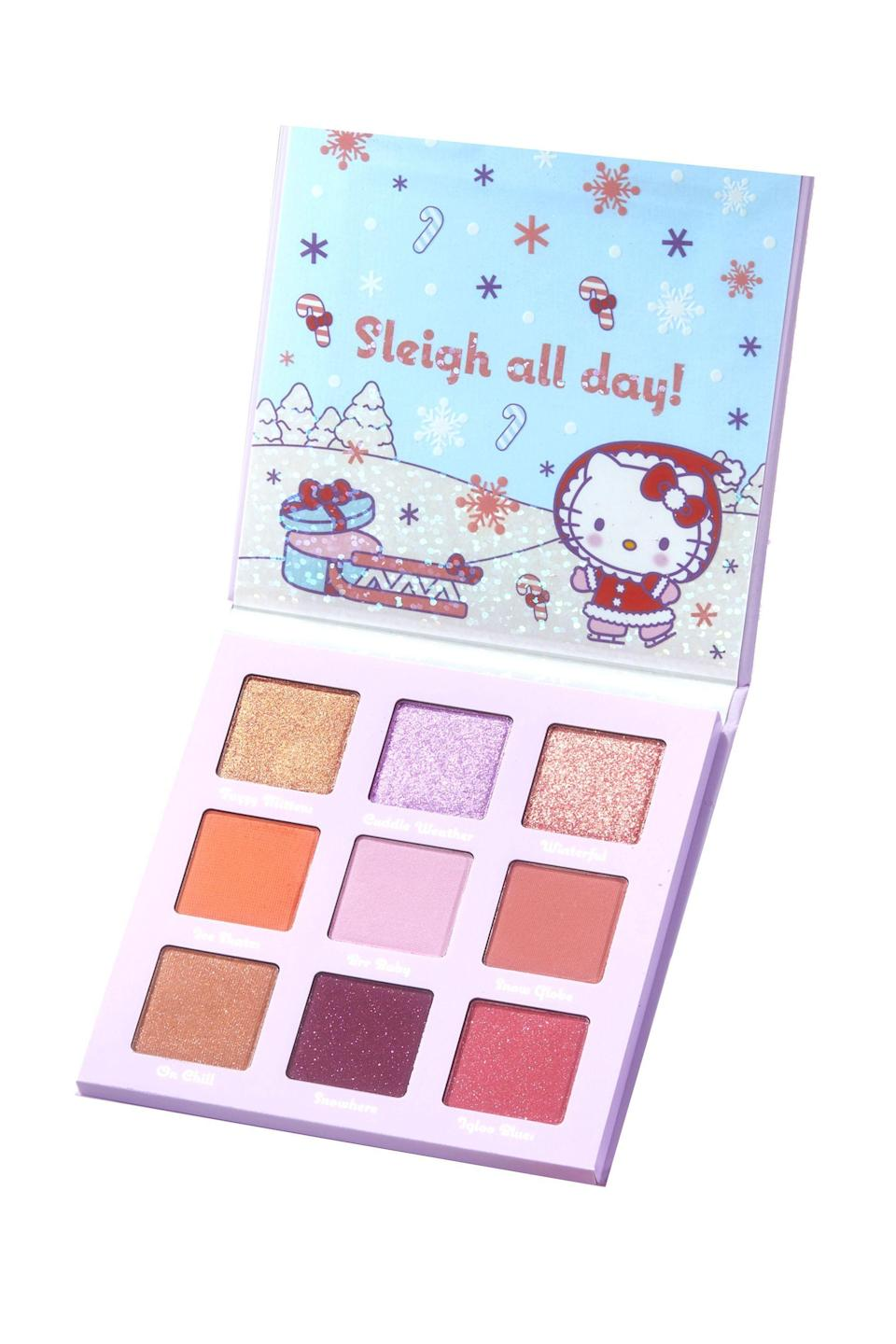 """<p><strong>ColourPop</strong></p><p><strong>$16.00</strong></p><p><a href=""""https://go.redirectingat.com?id=74968X1596630&url=https%3A%2F%2Fcolourpop.com%2Fproducts%2Fsnow-much-fun-hello-kitty-pressed-powder-makeup-palette&sref=https%3A%2F%2Fwww.elle.com%2Fbeauty%2Fg34850574%2Fhello-kitty-best-beauty-products%2F"""" rel=""""nofollow noopener"""" target=""""_blank"""" data-ylk=""""slk:Shop Now"""" class=""""link rapid-noclick-resp"""">Shop Now</a></p>"""