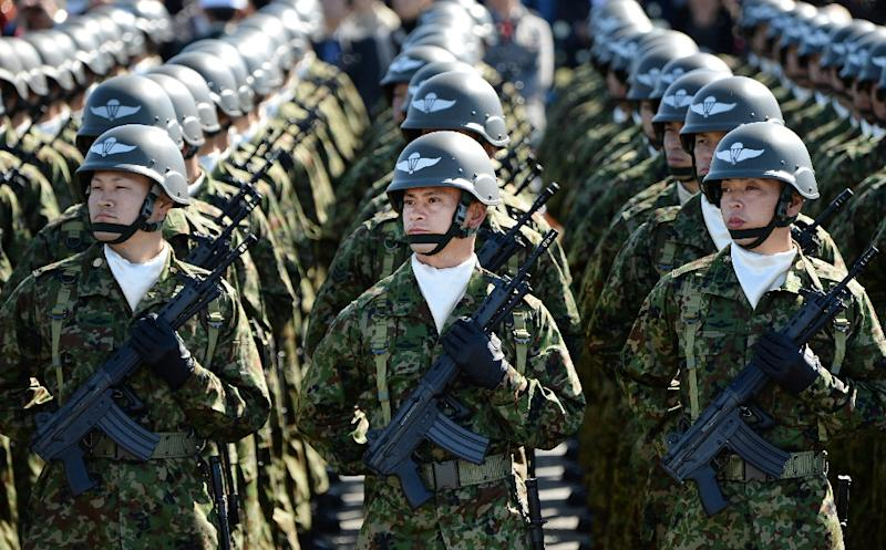 Japanese troops could fight abroad for the first time since World War II under changes going through parliament (AFP Photo/Toru Yamanaka)