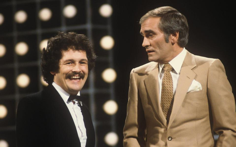 Bobby Ball, left, with Tommy Cannon in 1982 - ITV/Shutterstock