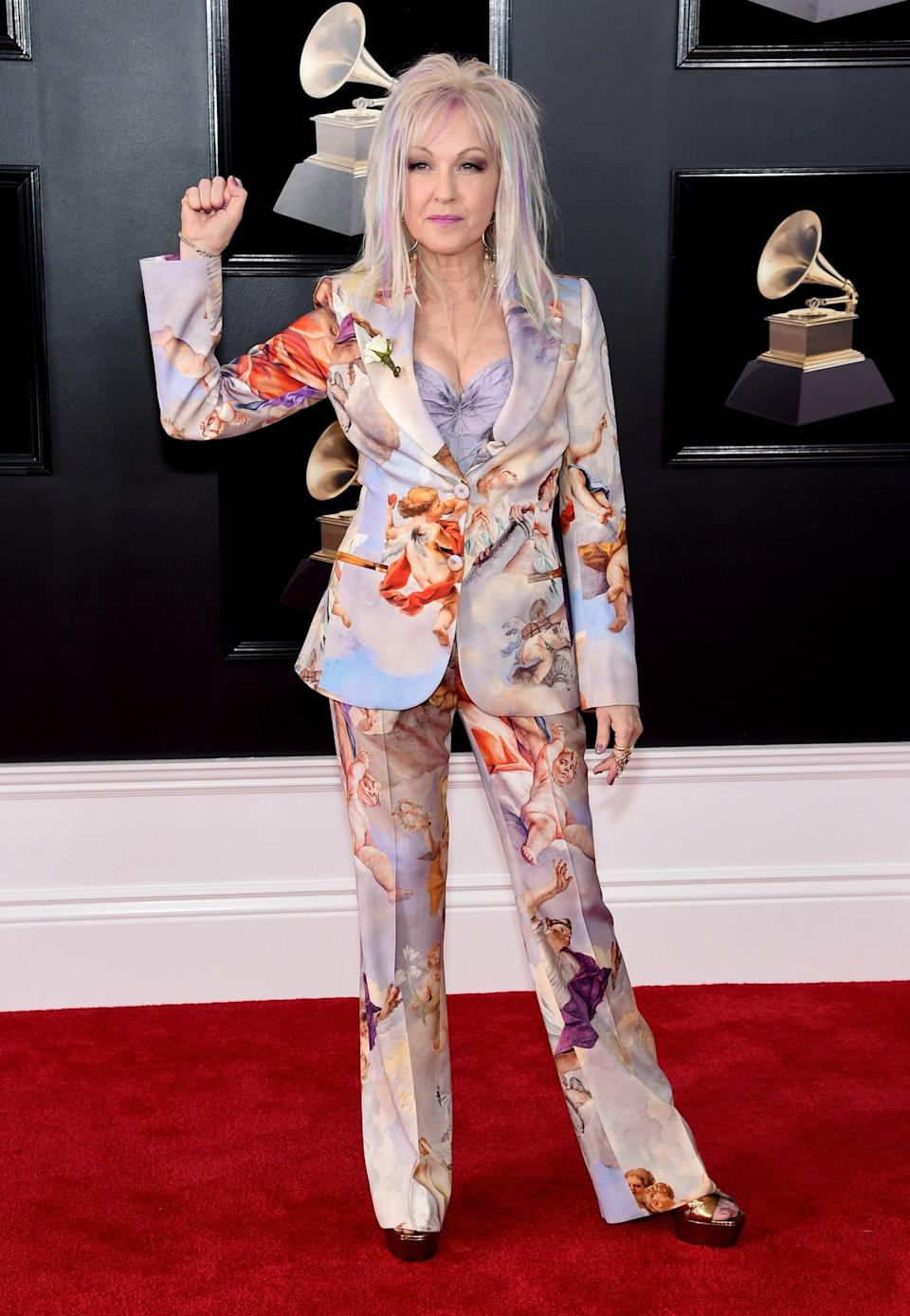 """<h1 class=""""title"""">Cyndi Lauper in Moschino</h1><cite class=""""credit"""">Photo: Getty Images</cite>"""