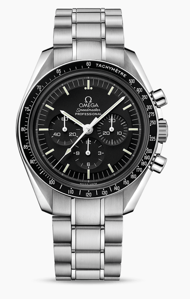 """<p><strong>Speedmaster</strong></p><p>omegawatches.com</p><p><strong>$6350.00</strong></p><p><a href=""""https://www.omegawatches.com/en-us/watch-omega-speedmaster-moonwatch-professional-chronograph-42-mm-31130423001006"""" rel=""""nofollow noopener"""" target=""""_blank"""" data-ylk=""""slk:Shop Now"""" class=""""link rapid-noclick-resp"""">Shop Now</a></p><p>It's a good year for a moonwatch, even for those of us not taking a trip to space. Omega's new edition has an upgraded bracelet—but still passes the original NASA certifications so when the invitation to the rocket ship arrives, you'll be ready. </p><p>Case size: 42mm</p>"""