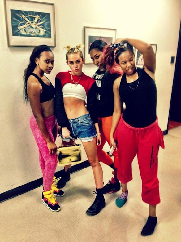 Miley Cyrus Reunites With 'We Can't Stop' Dancers Ahead Of MTV Video Music Awards Performance