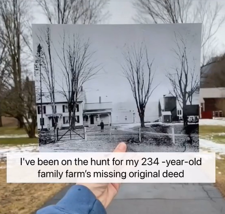 <p>Iris Rogers was trying to find the deed to the farm which her great-grandfather had stored in an old milk jug.</p> (@birisro/TikTok)