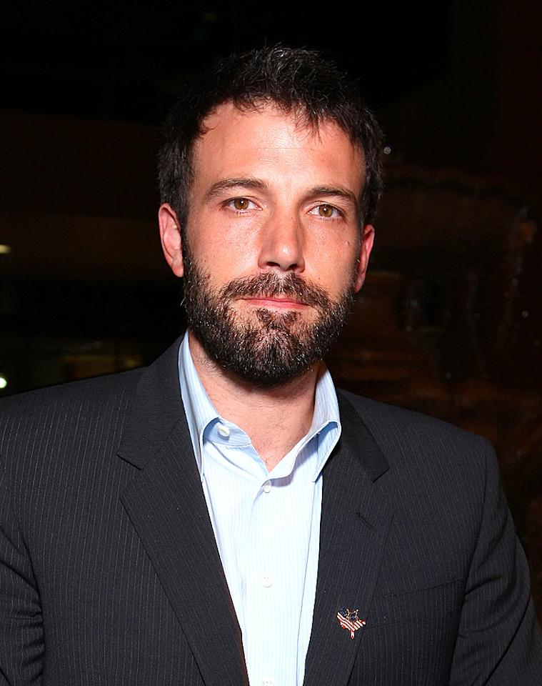 """A bearded Ben Affleck attends the MySpace Impact SAG dinner in Denver, Colorado. Ben and his wife Jennifer Garner are just two of dozens of celebrities that have turned out for the Democratic National Convention this week. John Shearer/<a href=""""http://www.wireimage.com"""" target=""""new"""">WireImage.com</a> - August 27, 2008"""