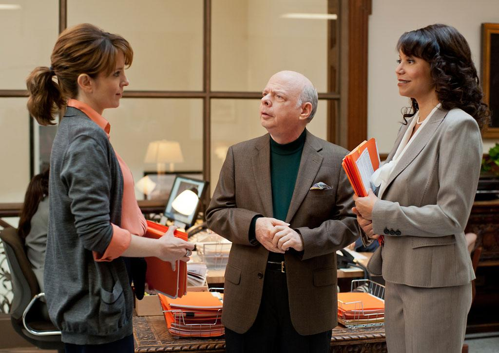 """Tina Fey, Wallace Shawn and Gloria Reuben in Focus Features' """"Admission"""" - 2013"""
